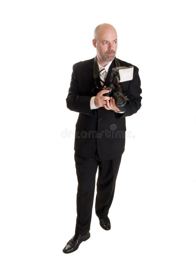 Fotógrafo Do Homem De Negócios Foto de Stock