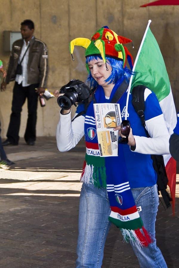 Fotógrafo dos esportes - WC 2010 de FIFA imagem de stock