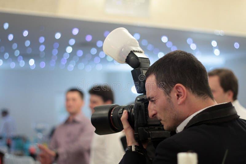Fotógrafo dos eventos foto de stock royalty free