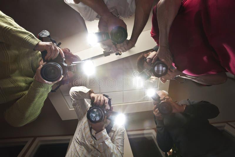 Fotógrafo dos paparazzi fotografia de stock