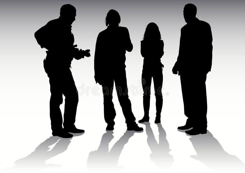 Fotógrafo e modelos ilustração royalty free