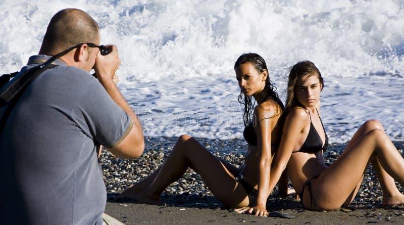 Fotógrafo e modelos fotos de stock royalty free