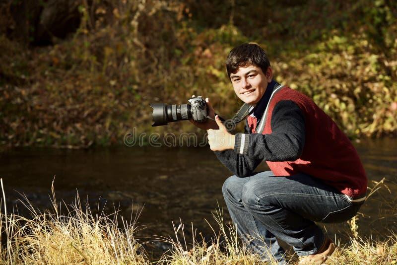 Fotógrafo en el valle de Ihlara imagen de archivo libre de regalías
