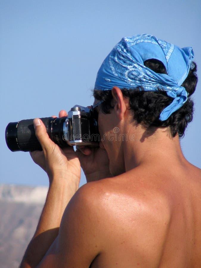 Fotógrafo en la corrida foto de archivo libre de regalías