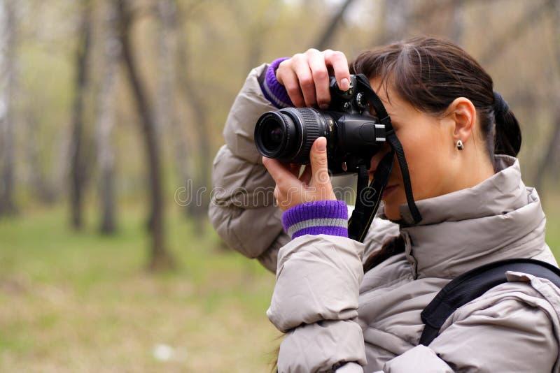 Fotógrafo en la naturaleza imágenes de archivo libres de regalías