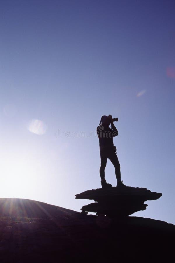 Fotógrafo en luz de la mañana fotos de archivo libres de regalías