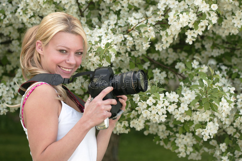 Fotógrafo fêmea imagens de stock