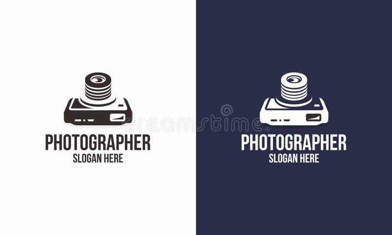 Fotógrafo Logo ilustração stock