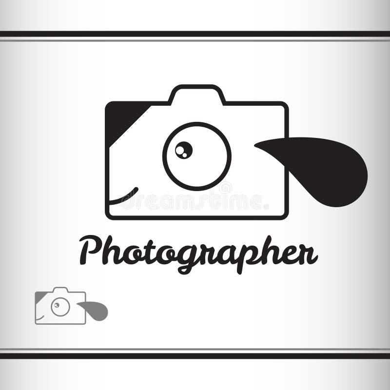 fotógrafo logo Filhote de cachorro Cão Câmera foto de stock royalty free