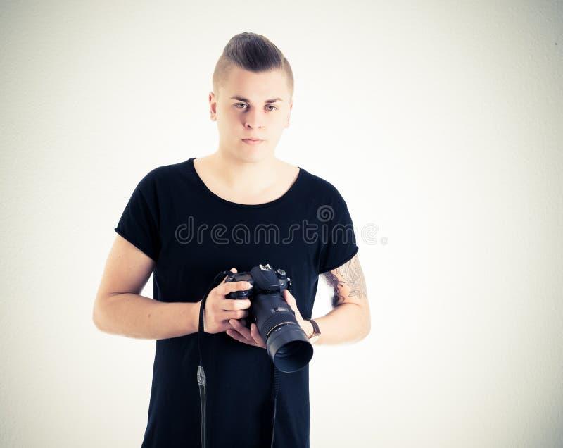 Fotógrafo masculino fotos de stock royalty free