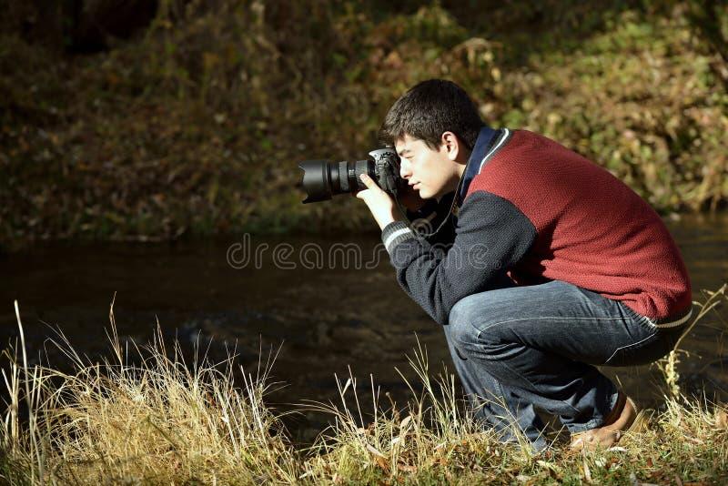 Fotógrafo no vale de Ihlara foto de stock royalty free