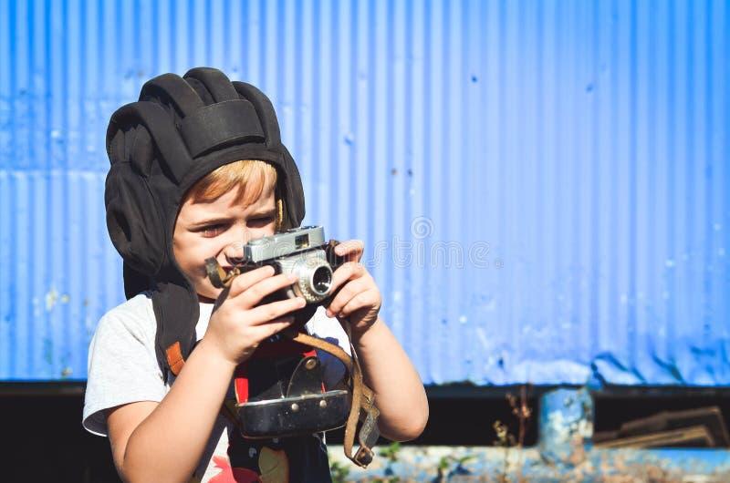Fotógrafo pequeno fotografia de stock royalty free
