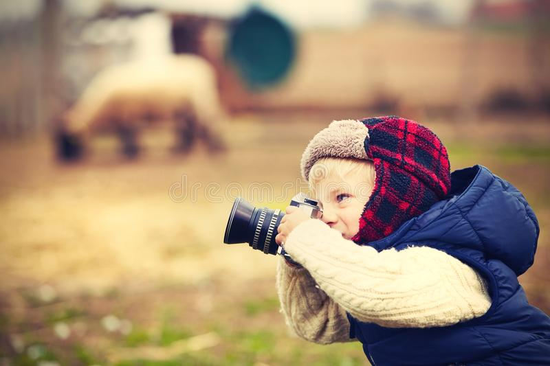Fotógrafo pequeno foto de stock