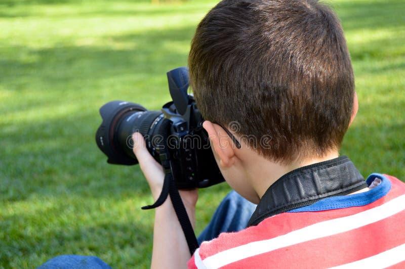 Fotógrafo pequeno da criança foto de stock