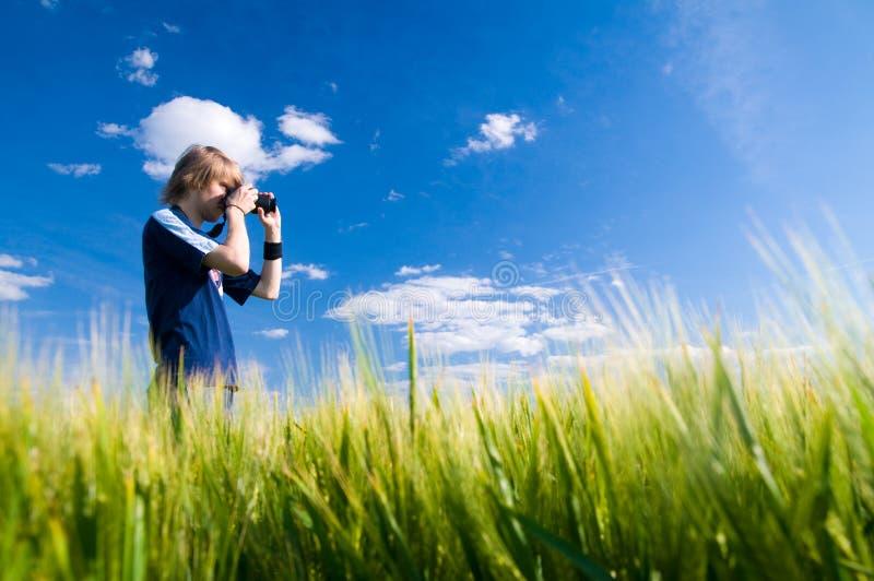 Fotógrafo que toma retratos foto de stock