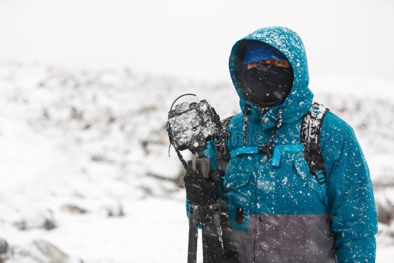 Fotógrafo que viaja en el norte imágenes de archivo libres de regalías