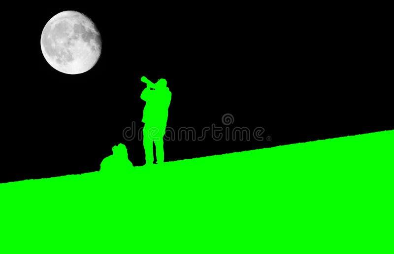 Fotógrafo Silhouette imagem de stock royalty free