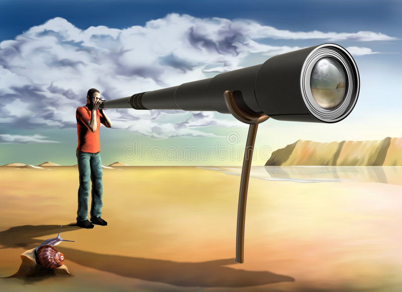 Fotógrafo surrealista ilustración del vector