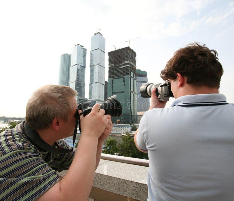 Fotógrafos fotografía de archivo libre de regalías