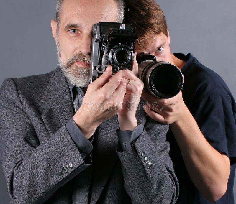 Fotógrafos imagen de archivo libre de regalías