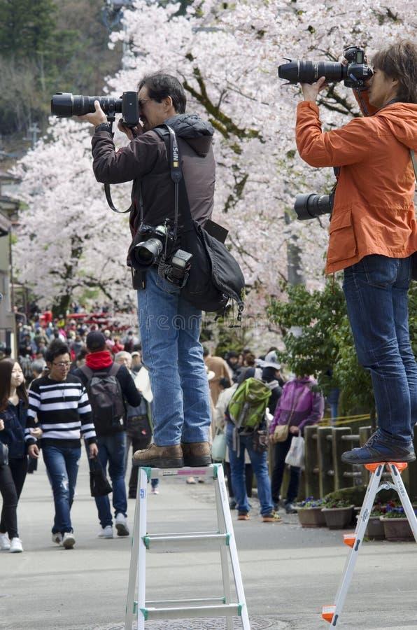 Fotógrafos japoneses imágenes de archivo libres de regalías