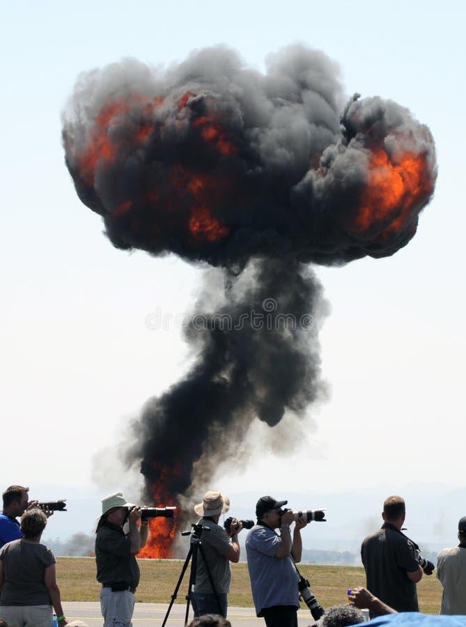 Fotógrafos y una explosión imagen de archivo