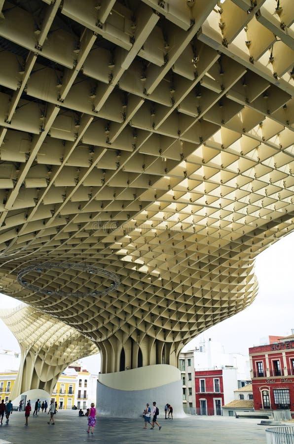 Fot av den Metropol slags solskydd, Sevilla, Spanien arkivfoto
