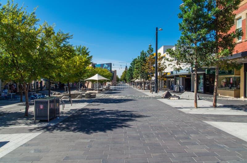 Fot- galleria för Hargreaves gata i Bendigo, Australien royaltyfri bild
