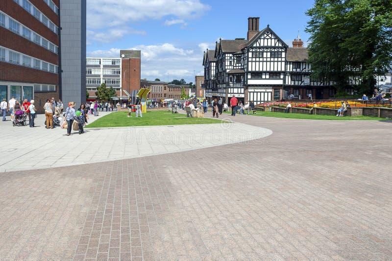 Fot- område av Treenighetgatan i Coventry royaltyfri fotografi