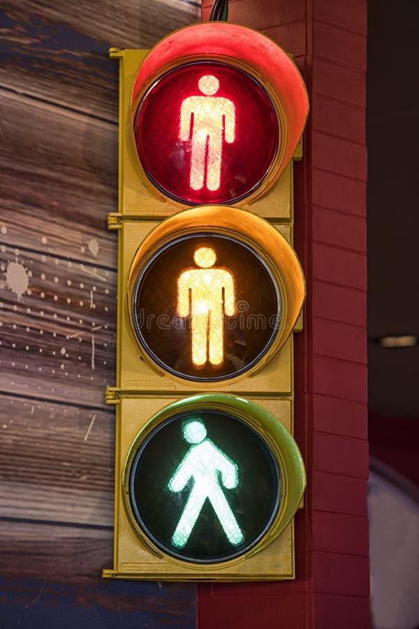 Fot- trafikljus royaltyfri fotografi