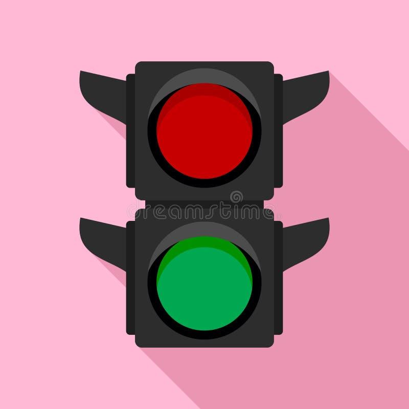 Fot- trafikljussymbol, plan stil vektor illustrationer