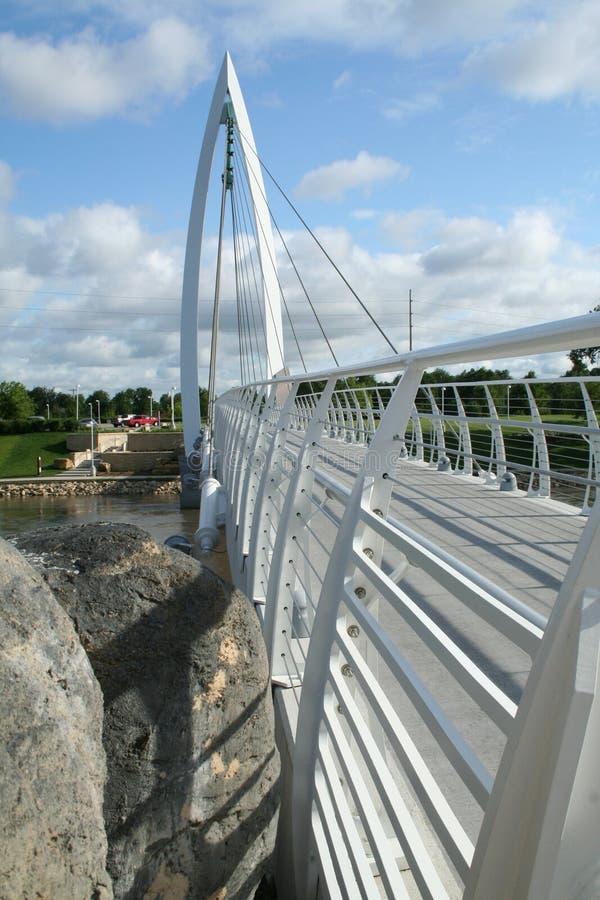 fot- white för bro arkivfoto