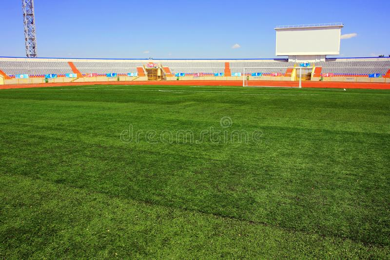 Download Fotball Soccer Stadium On Blue Sky Stock Photo - Image of drop, competition: 21797726