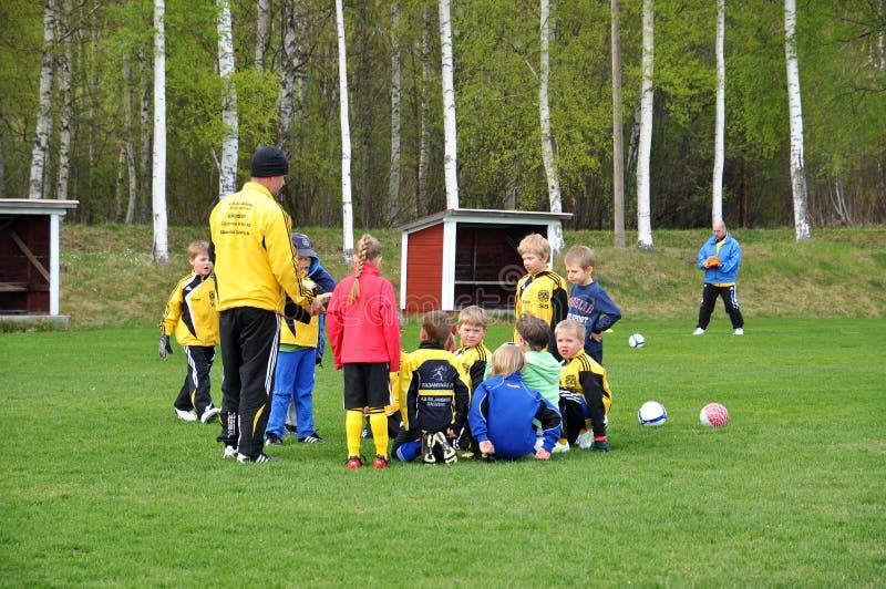 Fotbollövning arkivfoto