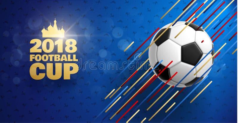 Fotboll 2018 royaltyfri illustrationer