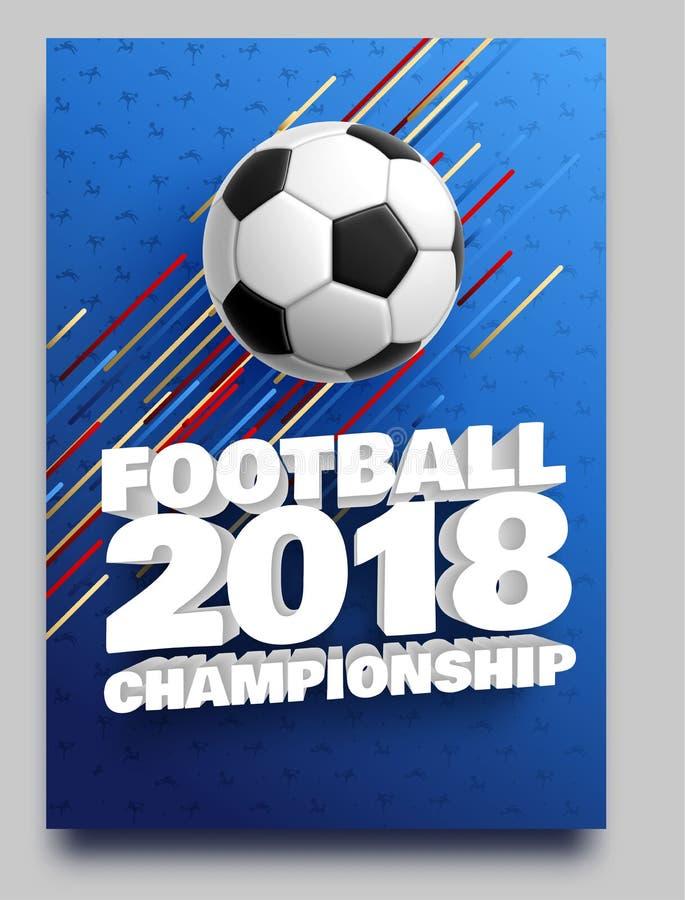 Fotboll 2018 stock illustrationer