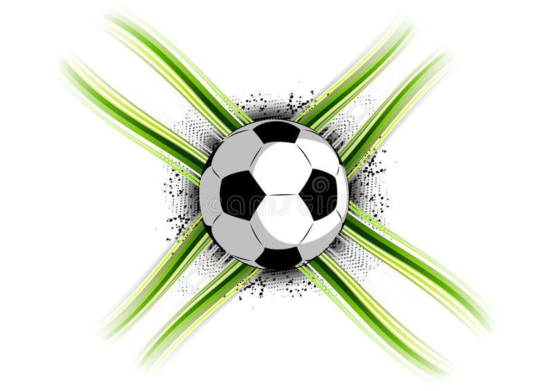 fotboll stock illustrationer