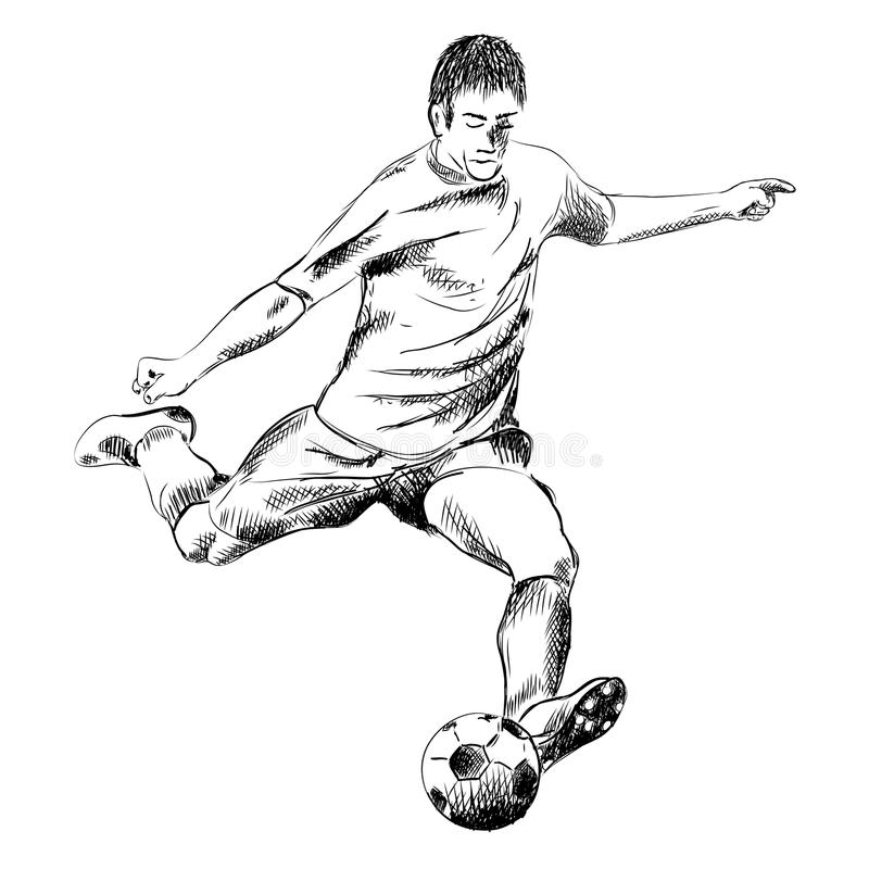 Download Fotboll vektor illustrationer. Illustration av kick, mänskligt - 19791168