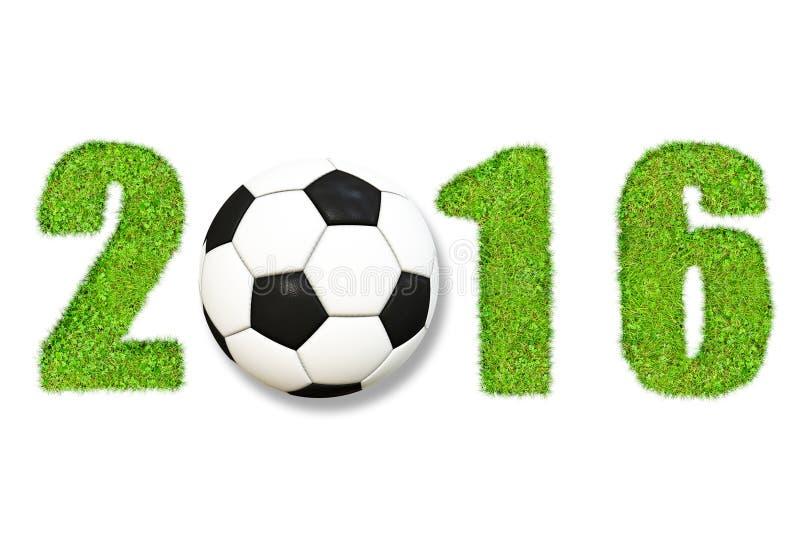 Fotboll 2016 stock illustrationer