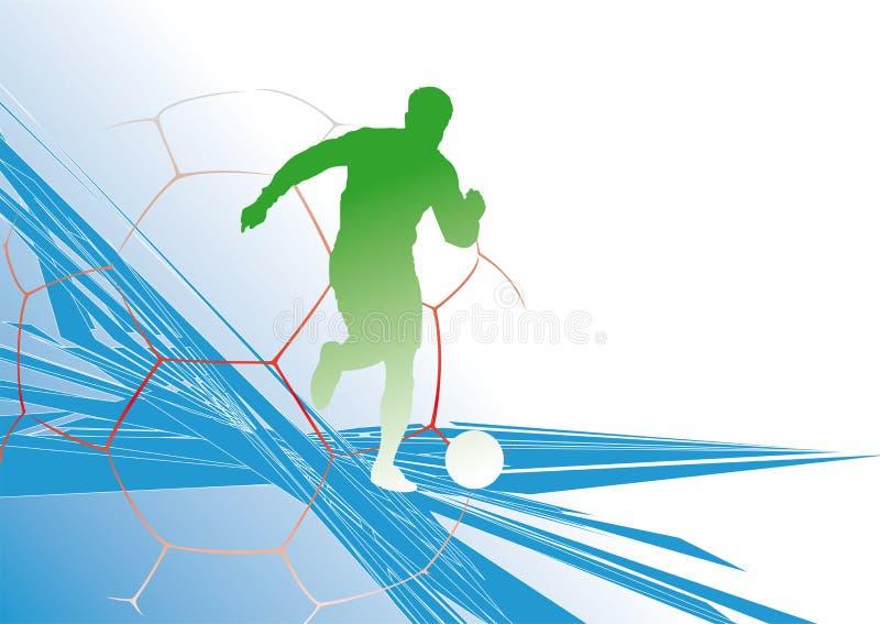 fotboll background2 royaltyfri illustrationer