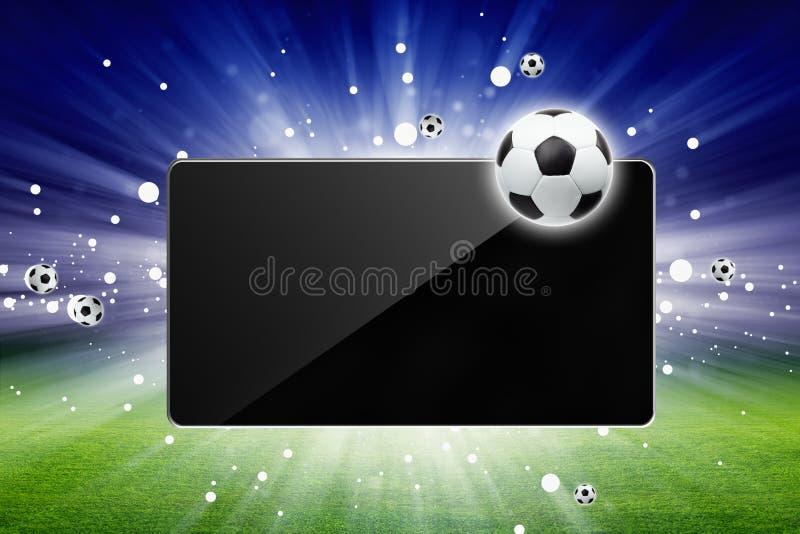 Fotboll bor vektor illustrationer