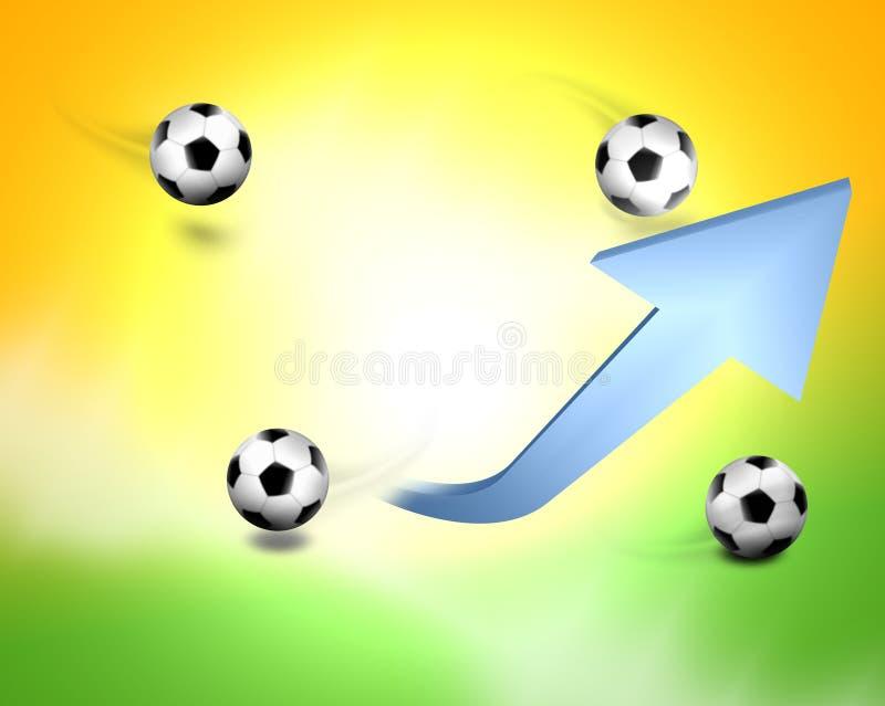 Fotboll Brasilien vektor illustrationer