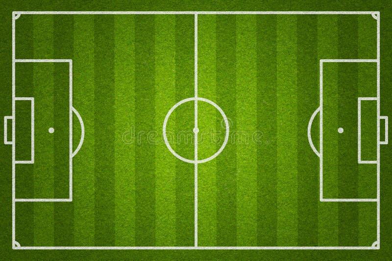 Fotboll- eller fotbollfält arkivbilder