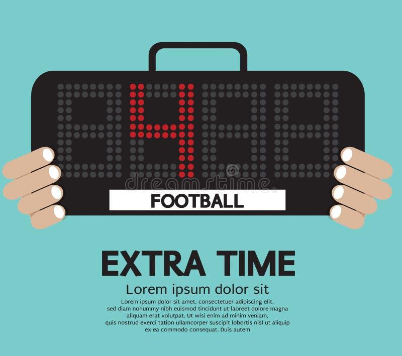 Fotboll extra Tid. stock illustrationer