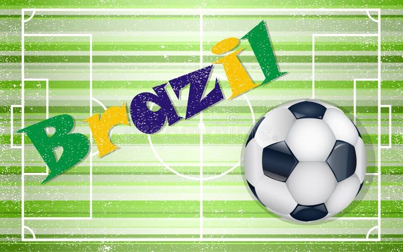 fotboll för bollfält vektor illustrationer