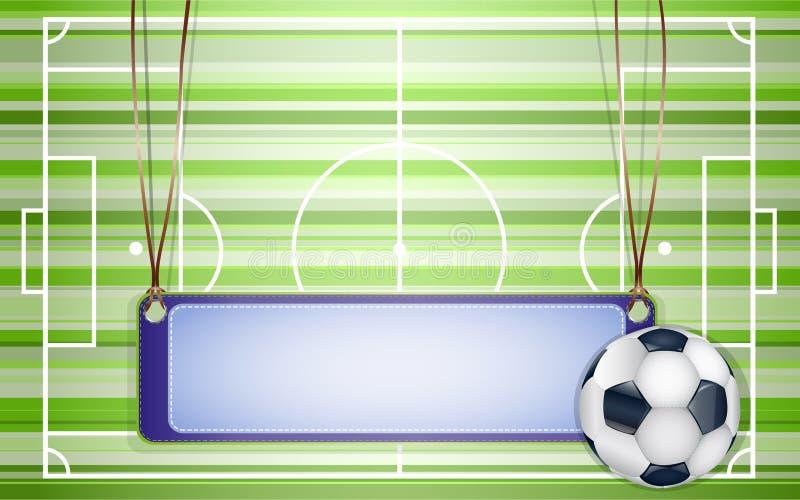 fotboll för bollfält royaltyfri illustrationer