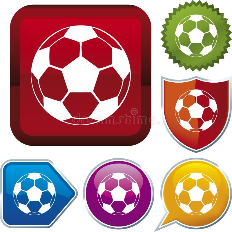 fotboll för bollsymbolsserie stock illustrationer