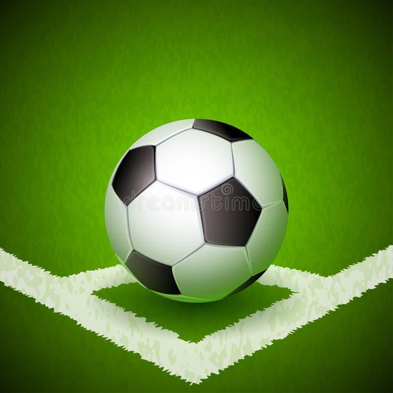 fotboll för burning exponeringsglas för aquaboll stock illustrationer