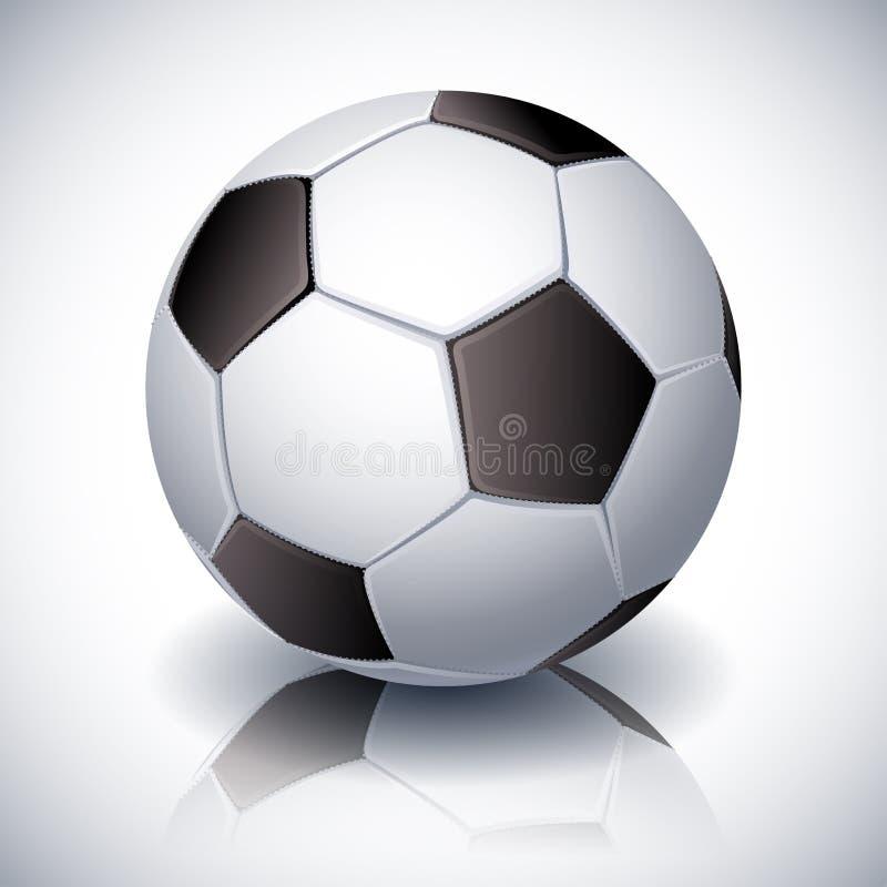 fotboll för burning exponeringsglas för aquaboll royaltyfri illustrationer