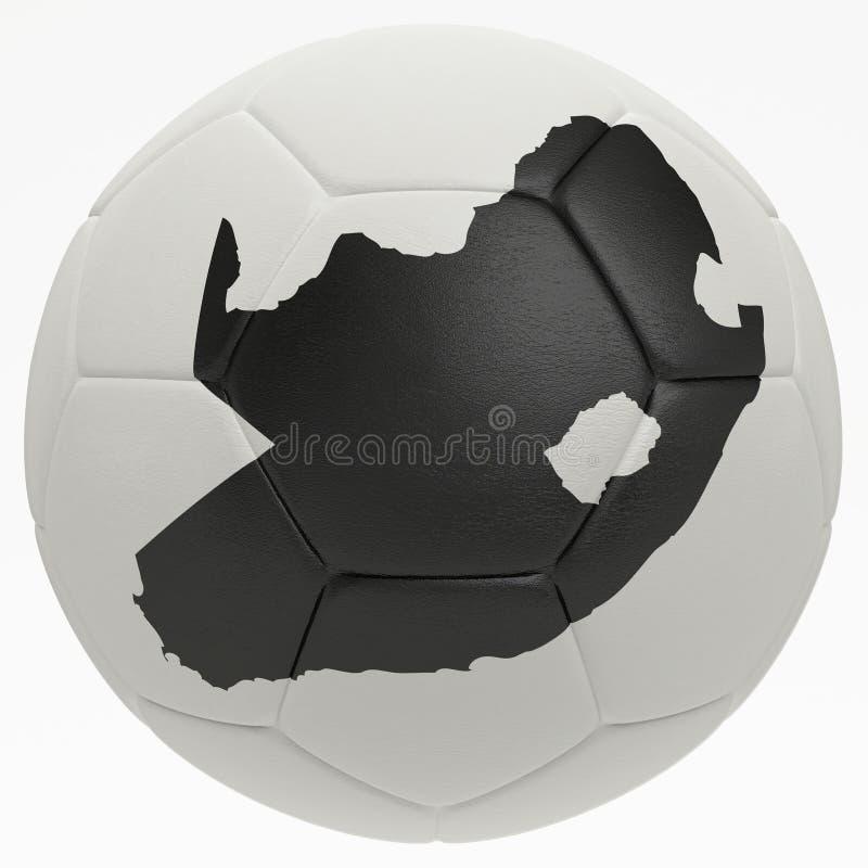 fotboll för form för africa boll södra photorealistic vektor illustrationer